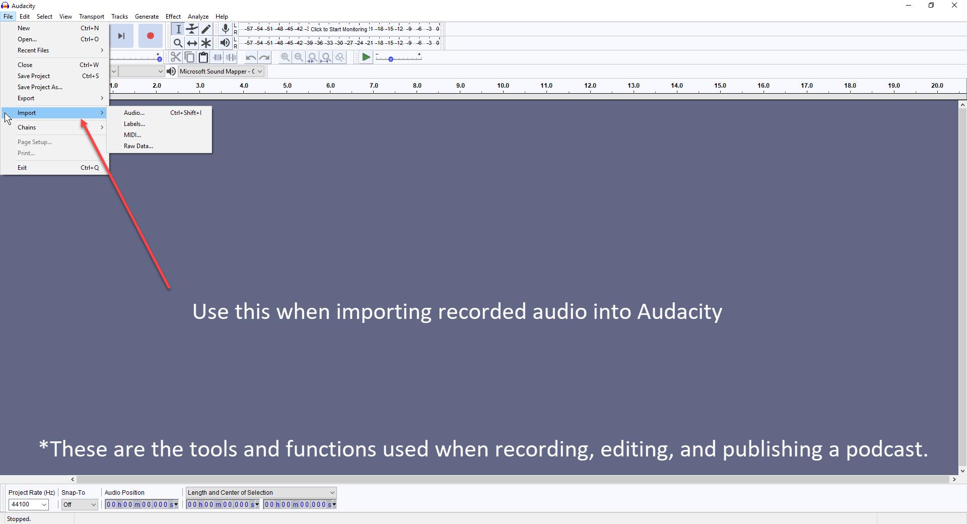 Audacity Basics - KrystalProffitt com